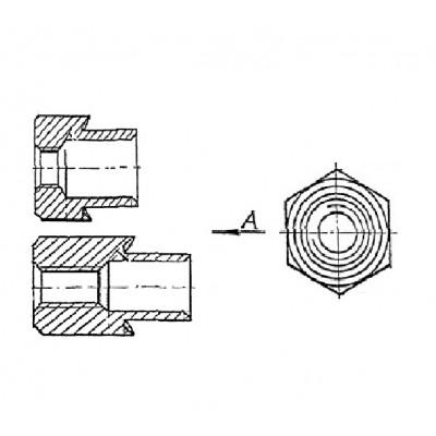 ОСТ 4Г 0.822.006 - Стальные и латунные втулки резьбовые БА