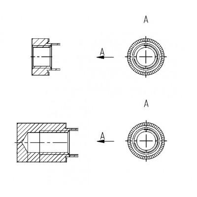 ОСТ 4Г 0.822.003 - Стальные и латунные втулки резьбовые БА
