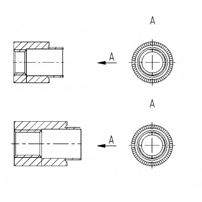 ОСТ 4Г 0.822.005 - Стальные и латунные втулки резьбовые БА