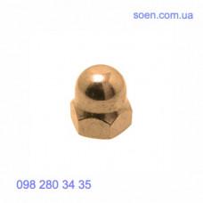DIN 1587 - Латунные гайки колпачковые шестигранные высокие