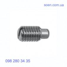 DIN 417 - Стальные винты установочные стопорные с прямым шлицем и плоским концом