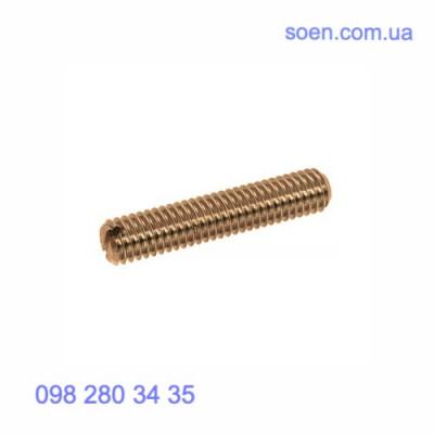 DIN 551 - Латуннные винты установочные стопорные с прямым шлицем и плоским концом