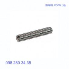 DIN 551 - Нержавеющие винты установочные стопорные с прямым шлицем и плоским концом
