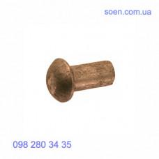 DIN 660 - Латунные заклёпки под молоток с полукруглой головкой