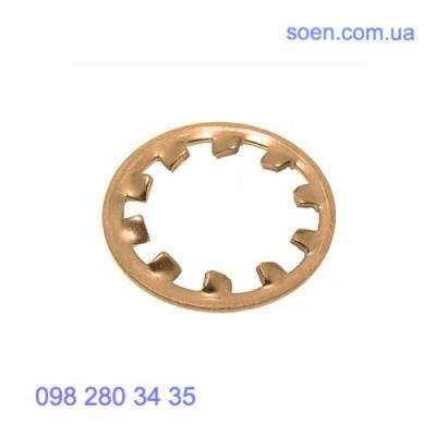 DIN 6797 J - Бронзовые шайбы стопорные с внутренними зубцами