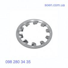 DIN 6797 A - Стальные шайбы с внешними зубцами
