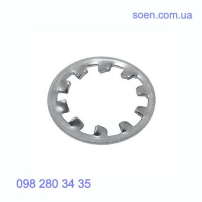 DIN 6797 V - Стальные шайбы с внешними зубцами