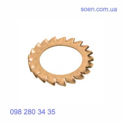 DIN 6798 A - Бронзовые шайбы стопорные с внешними зубцами
