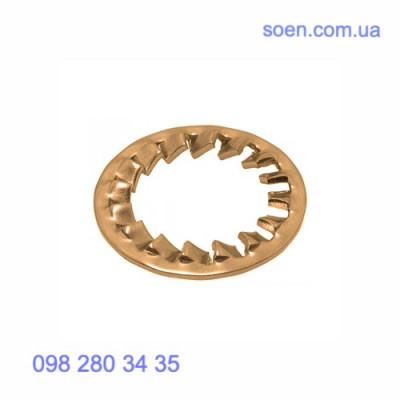 DIN 6798 J - Бронзовые шайбы стопорные с внутренними зубцами