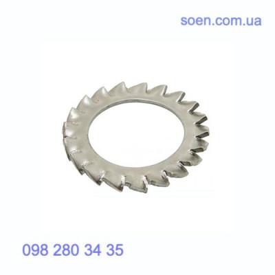 DIN 6798 V - Нержавеющие шайбы стопорные с внешними зубцами
