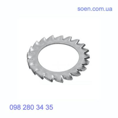 DIN 6798 A - Стальные шайбы  с внешними зубцами