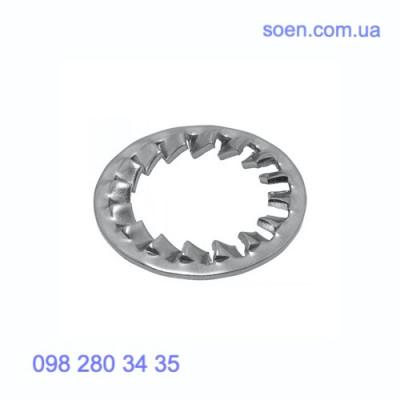 DIN 6798 J - Стальные шайбы с внутренними зубцами