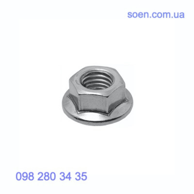 DIN 6923 - Стальные гайка шестигранные с фланцем