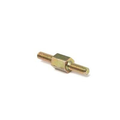 412 - Стойка М2,5 латунь, никель, нар/нар, SW=5, L2=L3=6mm