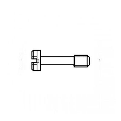 ГОСТ 10336-80 - Латунные винты с цилиндрической головкой невыпадающие
