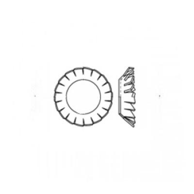 ГОСТ 10464-81 - Стальные шайбы стопорные с наружными зубьями под винты потайной полупотайной