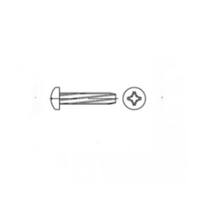 ГОСТ 10621-80 - Стальные винты самонарезающие с полукруглой головкой крестообразный шлиц