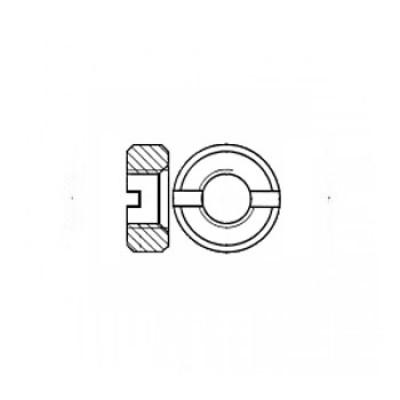 ГОСТ 10657-80 - Стальные гайки круглые со шлицем на торце