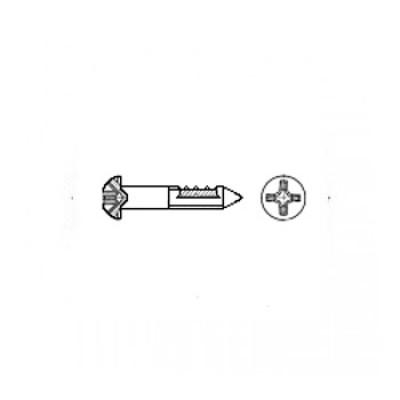 ГОСТ 1144-80 - Стальные шурупы с полукруглой головкой и прямым шлицем