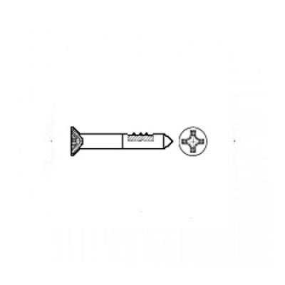 ГОСТ 1145-80 - Стальные шурупы с потайной головокй и прямым шлицем