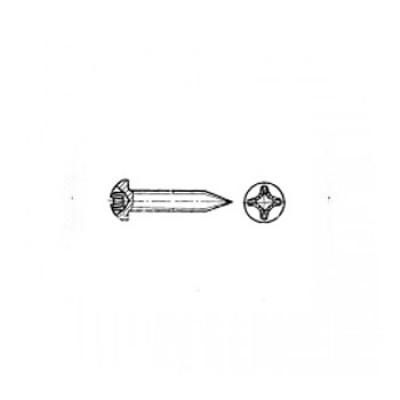 ГОСТ 11650-80 - Стальные винты самонарезающие с полукруглой головкой заостренный конец прямой шлиц