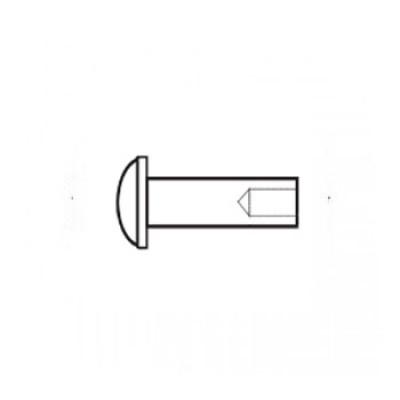 ГОСТ 12641-80 - Латунные заклепки полупустотелые с полукруглой головкой