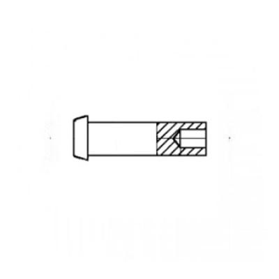ГОСТ 12642-80 - Латунные заклепки полупустотелые с плоской головкой