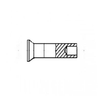 ГОСТ 12643-70 - Стальные заклепки полупустотелые с потайной головкой