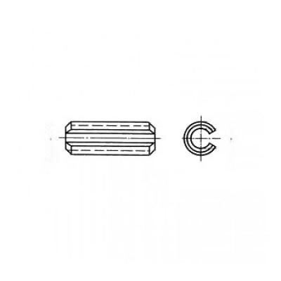 ГОСТ 14229-93 - Стальные штифты цилиндрические пружинные с прорезью
