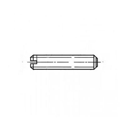 ГОСТ 1477-93 - Нержавеющие винты установочные с плоским концом и прямым шлицем