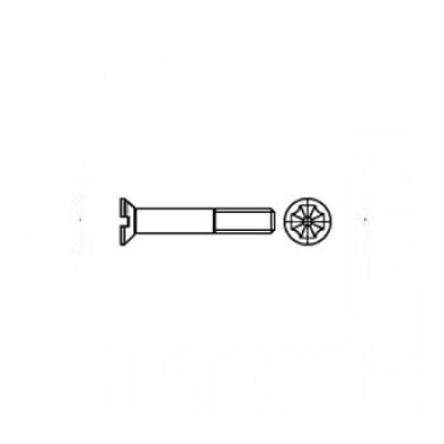 ГОСТ 17475-80 - Нержавеющие винты с потайной головкой и прямым шлицем
