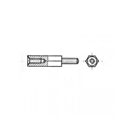 ГОСТ 20862-81 - Стальные стойки установочные крепежные шестигранные с резьбовыми концом и отверстием