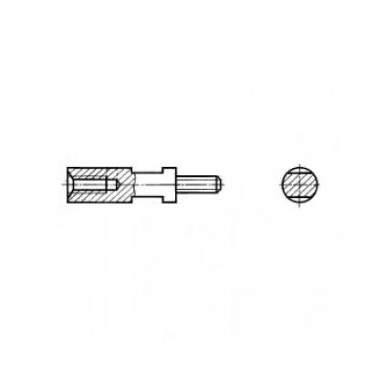 ГОСТ 20863-81 - Стальные стойки установочные крепежные круглые с резьбовыми концом и отверстием