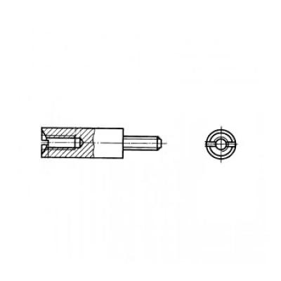 ГОСТ 20864-81 - Стальные стойки установочные крепежные круглые с шлицем резьбовыми концом отверстием