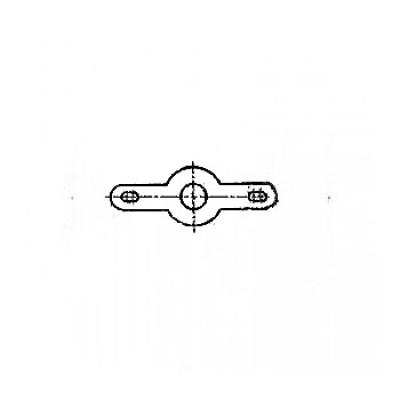 ГОСТ 22375-77 - Латунные лепестки двухсторонние, закрепляемые винтами или заклепками