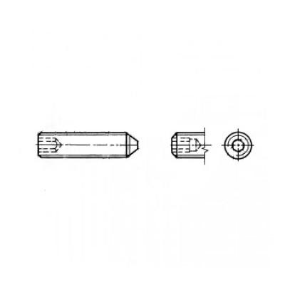 ГОСТ 8878-93 - Нержавеющие винты установочные с коническим концом и шестигранником