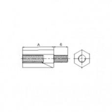 АРТ СК 71002 - Пластиковые стойки нейлоновые с внутренней и внешней резьбой