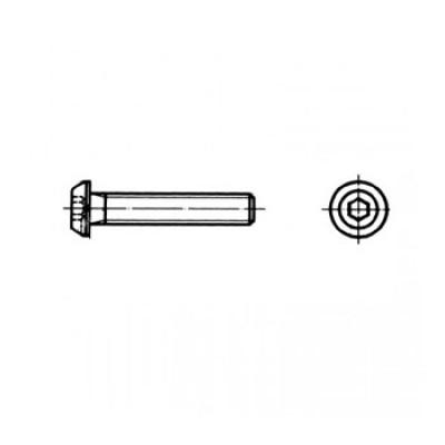 АРТ СК 9053 - Нержавеющие винты с полукруглой головкой и внутренним шестигранником