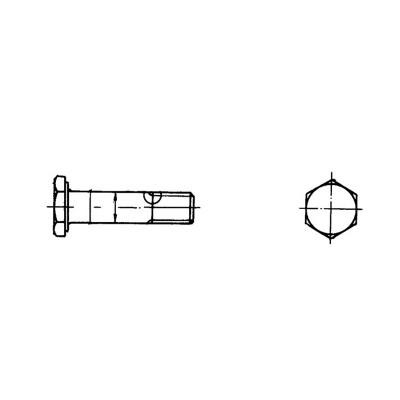 ОСТ 1 10570-72 Болты с уменьшенной шестигранной головкой с полем допуска диаметра стержня u8