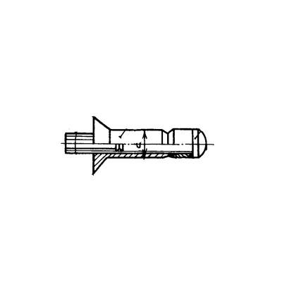 ОСТ 1 11204-73 Заклепки высокого сопротивления с потайной головкой L90'