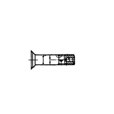 ОСТ 1 31068-86 Болты с уменьшенной потайной головкой L90'