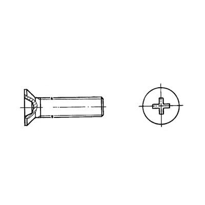 ОСТ 1 31558-80 Винты с потайной головкой L90` с крестообразным шлицем
