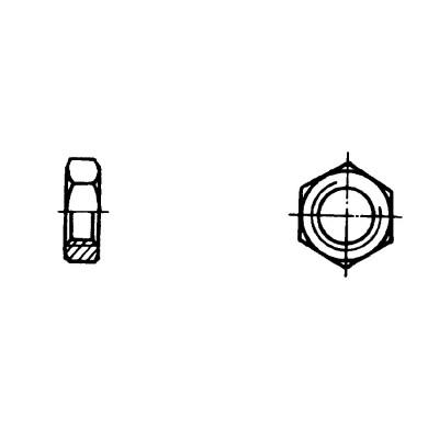 ОСТ 1 33036-80 Гайки шестигранные для нерасчетных соединений и стопорения
