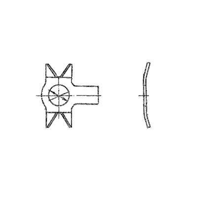 ОСТ 1 34526-80 Шайбы стопорные двухсторонние с лапкой